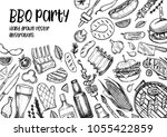 hand drawn vector illustrations.... | Shutterstock .eps vector #1055422859