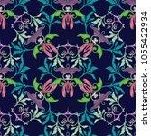 embroidery damask vector...   Shutterstock .eps vector #1055422934