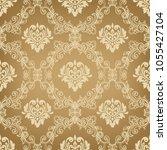 damask seamless pattern for...   Shutterstock .eps vector #1055427104