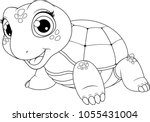 vector illustration of a cute... | Shutterstock .eps vector #1055431004
