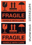 fragile handle with care... | Shutterstock .eps vector #1055431694