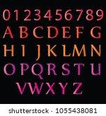 shining font  shiny stars... | Shutterstock .eps vector #1055438081
