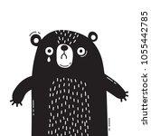 sad  frightened bear cub is... | Shutterstock .eps vector #1055442785