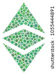 ethereum classic mosaic of... | Shutterstock .eps vector #1055444891