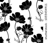 floral seamless pattern with... | Shutterstock .eps vector #1055454911