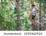 teenager having fun on high... | Shutterstock . vector #1055462924