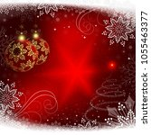 christmas red background with... | Shutterstock .eps vector #1055463377
