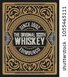 whiskey label with old frames.... | Shutterstock .eps vector #1055465111