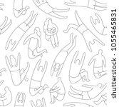 line art seamless pattern.... | Shutterstock .eps vector #1055465831