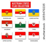 austria states flag collection  ... | Shutterstock .eps vector #1055470235