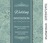 invitation or card template.... | Shutterstock .eps vector #1055471951
