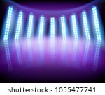 lighting effects on the stage.... | Shutterstock .eps vector #1055477741