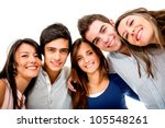 happy group of young people... | Shutterstock . vector #105548261