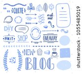 hand drawn graphic set for blog ... | Shutterstock .eps vector #1055485019