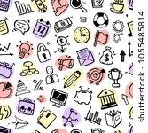 hand drawn business seamless... | Shutterstock .eps vector #1055485814