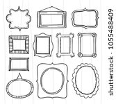 cute doodle frames for graphic... | Shutterstock .eps vector #1055488409