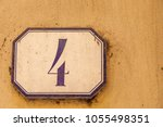 numbered tile on a wall | Shutterstock . vector #1055498351