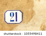 numbered tile on a wall   Shutterstock . vector #1055498411