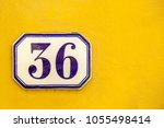 numbered tile on a wall   Shutterstock . vector #1055498414