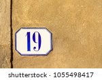numbered tile on a wall   Shutterstock . vector #1055498417