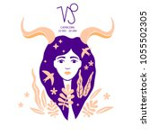 capricorn of zodiac  horoscope... | Shutterstock .eps vector #1055502305