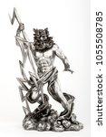 decorative figure of god zeus...   Shutterstock . vector #1055508785