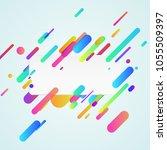 modern material design neon... | Shutterstock .eps vector #1055509397