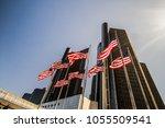 detroit  michigan  usa   march... | Shutterstock . vector #1055509541
