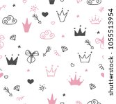 hand drawn seamless pattern...   Shutterstock .eps vector #1055513954