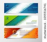 leaflets 3 fold template.vector ...   Shutterstock .eps vector #1055516741