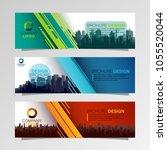 leaflets 3 fold template.vector ... | Shutterstock .eps vector #1055520044