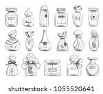 set with black and white... | Shutterstock .eps vector #1055520641