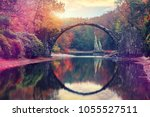 awesome autumn landscape.... | Shutterstock . vector #1055527511