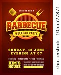 barbecue poster  flyer ... | Shutterstock .eps vector #1055527871