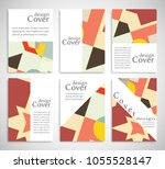 set of a4 cover  abstract... | Shutterstock .eps vector #1055528147