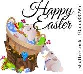 set of easter chocolate egg...   Shutterstock . vector #1055533295