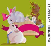 set of easter chocolate egg... | Shutterstock . vector #1055533415