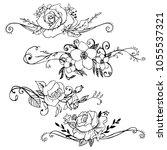 flowers vegetation vector... | Shutterstock .eps vector #1055537321