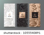 vector set packaging templates... | Shutterstock .eps vector #1055540891