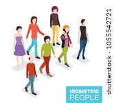 isometric 3d people | Shutterstock .eps vector #1055542721