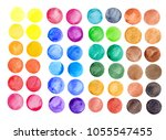 set of colorful watercolor hand ... | Shutterstock . vector #1055547455