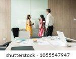 three creative indian... | Shutterstock . vector #1055547947