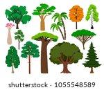 cartoon trees. vector green... | Shutterstock .eps vector #1055548589