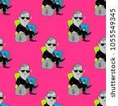 quirky businessman seamless... | Shutterstock .eps vector #1055549345