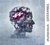 neurosis mental disorder...   Shutterstock . vector #1055549801