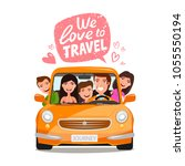 travel  journey concept. happy... | Shutterstock .eps vector #1055550194
