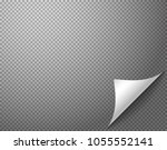 bending paper corner element on ... | Shutterstock .eps vector #1055552141