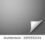 bending paper corner element on ... | Shutterstock .eps vector #1055552141