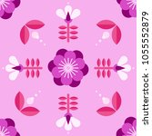 beautiful floral pattern in... | Shutterstock .eps vector #1055552879