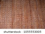 Small photo of texture top Table made of wicker interlace is patterned.